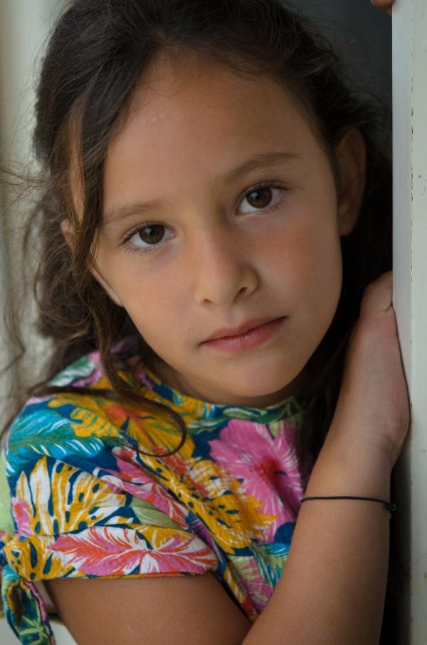 Portrait rapproché d'une fille