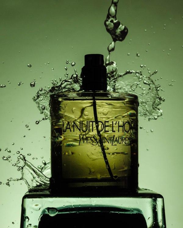 photo commercial de parfum yves saint laurent