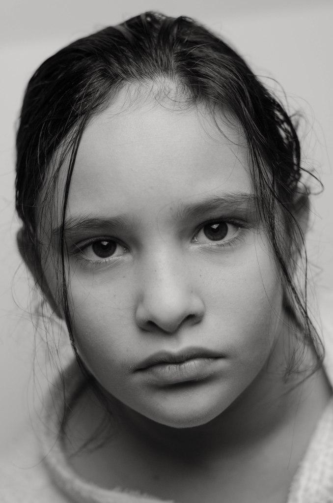 portrait black and white female