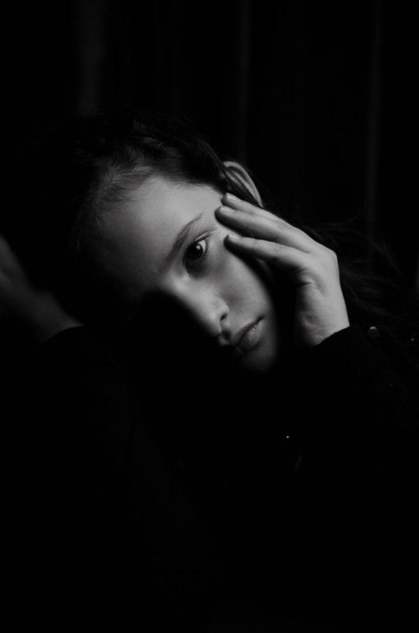 portrait photography dark mood