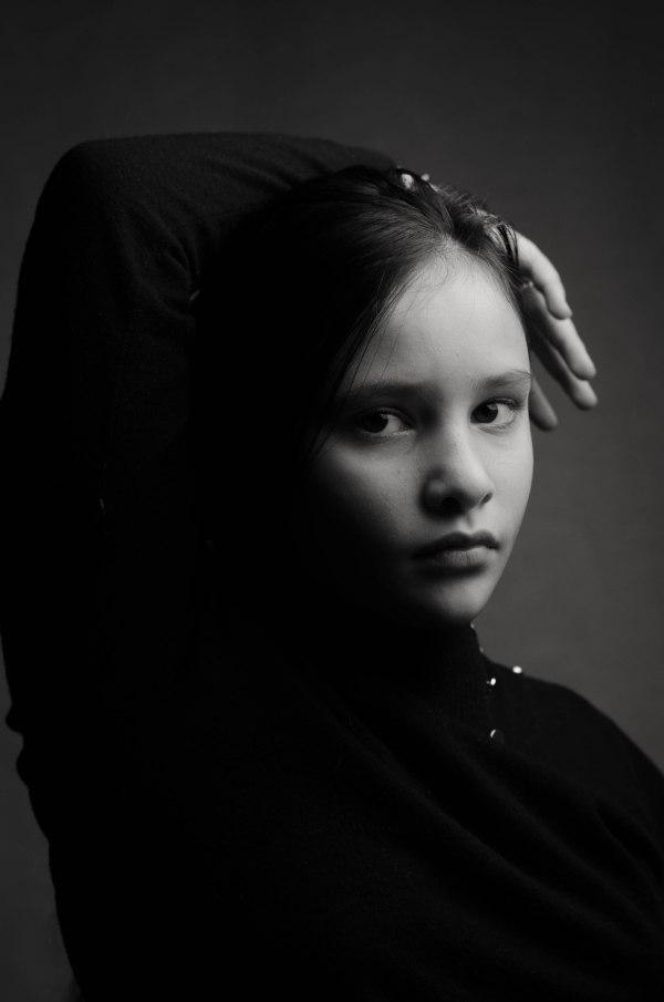 studio shoot of young girl